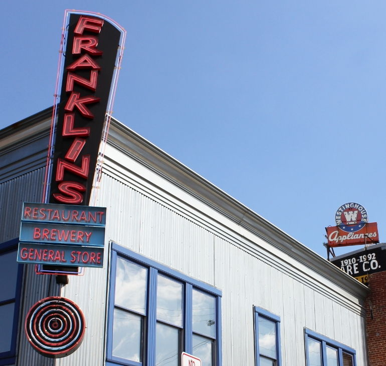 Grab a Beer, a Bite and a Bag of Novelties at Franklin's Restaurant, Brewery & General Store
