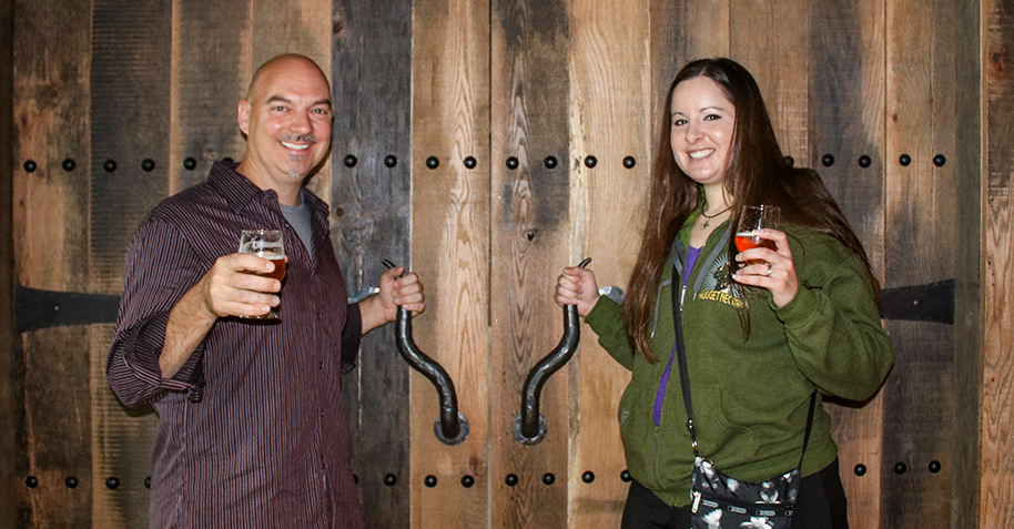 Joe Man and Steph at Stone Brewing