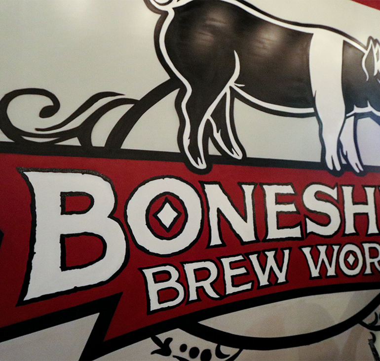 Imbibing Beers at Boneshire Brew Works